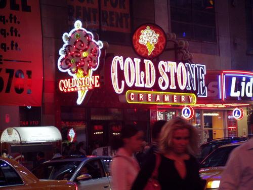 We love Coldstone! ①@Times Square